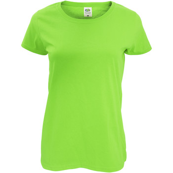 Vêtements Femme T-shirts manches courtes Fruit Of The Loom Original Vert citron