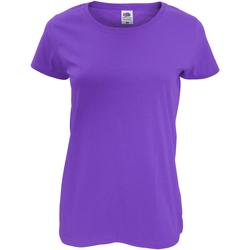 Vêtements Femme T-shirts manches courtes Fruit Of The Loom Original Pourpre