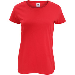 Vêtements Femme T-shirts manches courtes Fruit Of The Loom Original Rouge