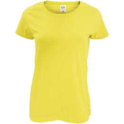 Vêtements Femme T-shirts manches courtes Fruit Of The Loom Original Jaune