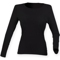 Vêtements Femme T-shirts manches longues Skinni Fit Stretch Noir