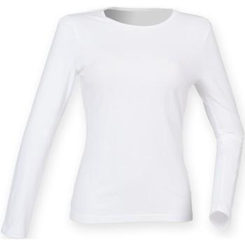 Vêtements Femme T-shirts manches longues Skinni Fit Stretch Blanc