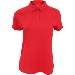 Vêtements Femme Polos manches courtes Fruit Of The Loom Performance Rouge