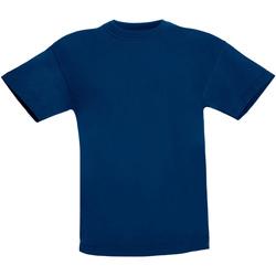 Vêtements Enfant T-shirts manches courtes Fruit Of The Loom Original Bleu marine