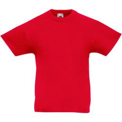 Vêtements Enfant T-shirts manches courtes Fruit Of The Loom Original Rouge