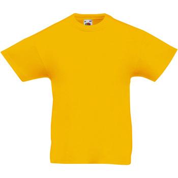 Vêtements Enfant T-shirts manches courtes Fruit Of The Loom Original Tournesol
