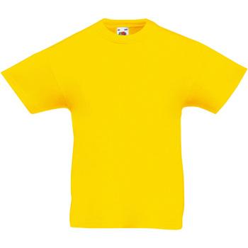 Vêtements Enfant T-shirts manches courtes Fruit Of The Loom Original Jaune