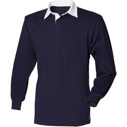 Vêtements Enfant Polos manches longues Front Row FR109 Bleu marine