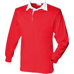 Vêtements Enfant Polos manches longues Front Row FR109 Rouge