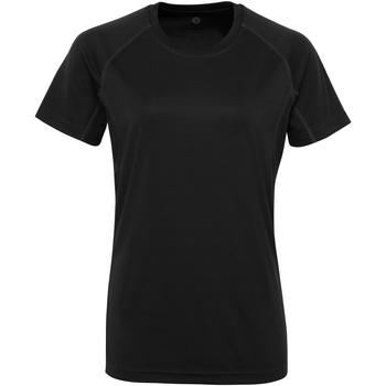 Vêtements Femme T-shirts manches courtes Tridri Panelled Noir