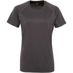 Vêtements Femme T-shirts manches courtes Tridri Panelled Gris foncé