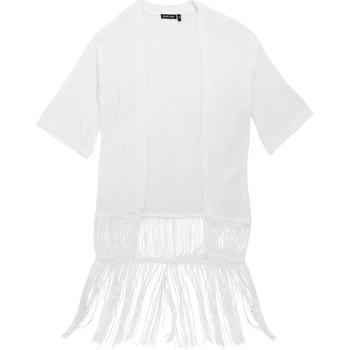Vêtements Femme Gilets / Cardigans Brave Soul Kimono Blanc