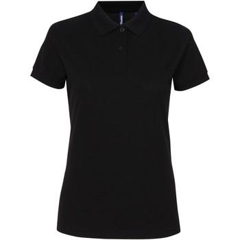 Vêtements Femme Polos manches courtes Asquith & Fox Performance Noir