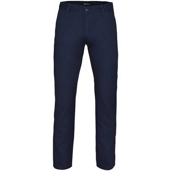 Vêtements Homme Chinos / Carrots Asquith & Fox AQ052 Bleu marine