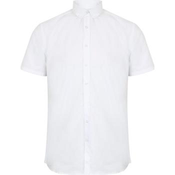 Vêtements Homme Chemises manches courtes Henbury Oxford Blanc