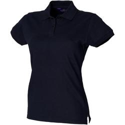 Vêtements Femme Polos manches courtes Henbury Pique Bleu marine