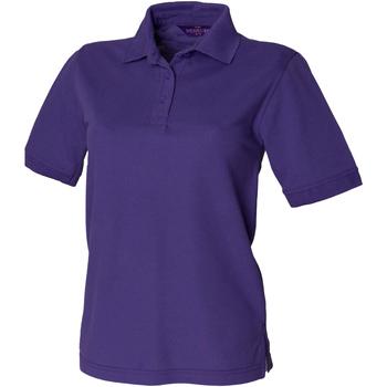 Vêtements Femme Polos manches courtes Henbury HB401 Pourpre