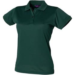 Vêtements Femme Polos manches courtes Henbury Coolplus Vert bouteille