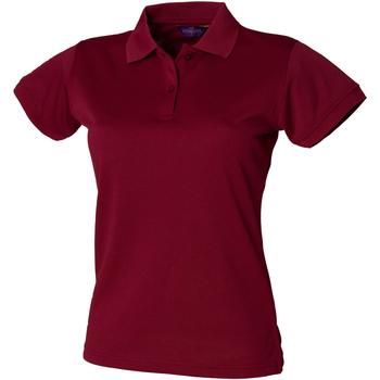 Vêtements Femme Polos manches courtes Henbury Coolplus Bordeaux