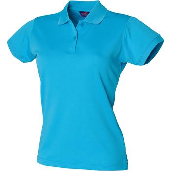Vêtements Femme Polos manches courtes Henbury Coolplus Turquoise