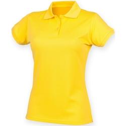 Vêtements Femme Polos manches courtes Henbury Coolplus Jaune