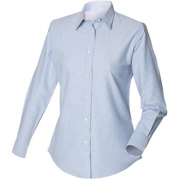Vêtements Homme Chemises manches longues Henbury Classic Oxford Bleu