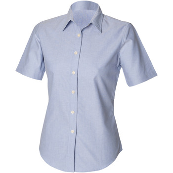 Vêtements Femme Chemises / Chemisiers Henbury Classic Oxford Bleu