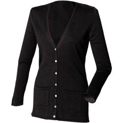 Vêtements Femme Gilets / Cardigans Henbury Fine Knit Noir
