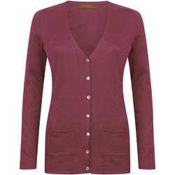 Vêtements Femme Gilets / Cardigans Henbury Fine Knit Bordeaux