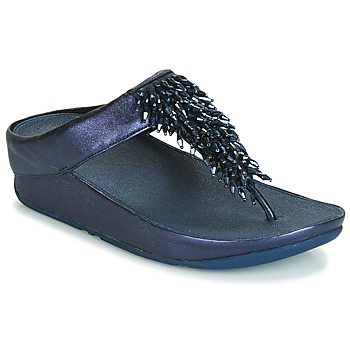 Chaussures Femme Tongs FitFlop RUMBA TOE THONG SANDALS Bleu
