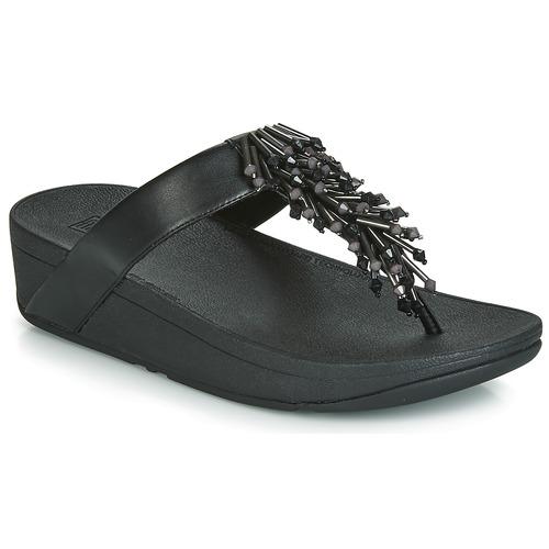 Chaussures Femme Tongs FitFlop JIVE TREASURE Noir
