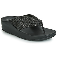 Chaussures Femme Tongs FitFlop TWISS CRYSTAL Noir