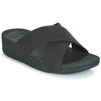 Chaussures Femme Mules FitFlop LULU SHIMMERLUX SLIDES Noir