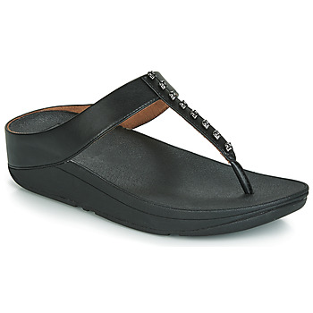 Chaussures Femme Tongs FitFlop FINO TREASURE Noir