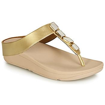 Chaussures Femme Sandales et Nu-pieds FitFlop FINO SHELLSTONE Doré