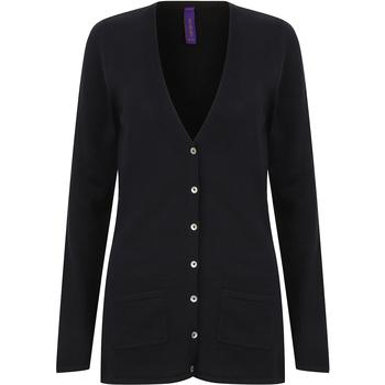 Vêtements Femme Gilets / Cardigans Henbury Fine Knit Bleu marine