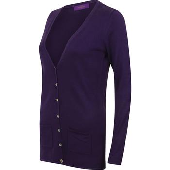 Vêtements Femme Gilets / Cardigans Henbury Fine Knit Violet