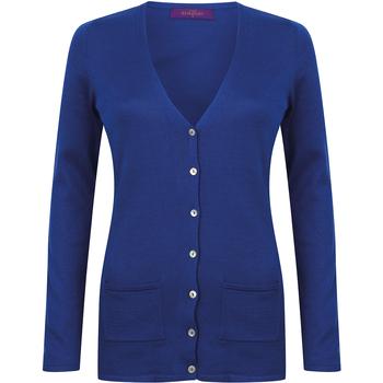 Vêtements Femme Gilets / Cardigans Henbury Fine Knit Bleu roi