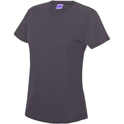 Vêtements Femme T-shirts manches courtes Just Cool JC005 Gris foncé