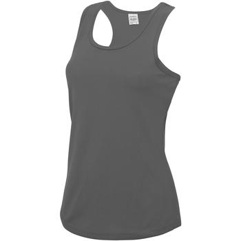 Vêtements Femme Débardeurs / T-shirts sans manche Just Cool Girlie Gris foncé