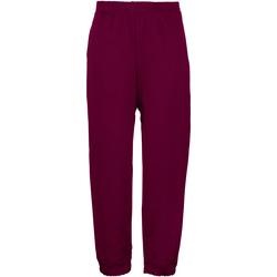 Vêtements Enfant Pantalons de survêtement Maddins Coloursure Bordeaux