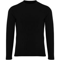 Vêtements Garçon T-shirts manches longues Tridri Performance Noir