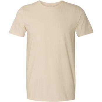 Vêtements Homme T-shirts manches courtes Gildan Soft-Style Beige clair