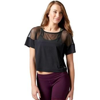 Vêtements Femme T-shirts manches courtes Reebok Sport Cardio Fashion Top Noir