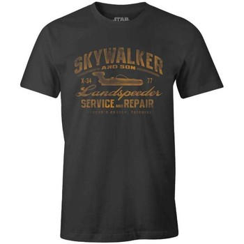 Vêtements Homme T-shirts manches courtes Cotton Division Tshirt Star Wars - Skywalker Landspeeder repair Anthracite