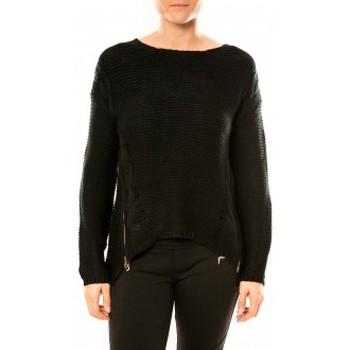 Vêtements Femme Pulls By La Vitrine Pull Laetitia MEM K078 Noir Noir