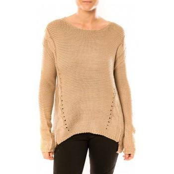 Vêtements Femme Pulls By La Vitrine Pull Laetitia MEM K078 Taupe Marron