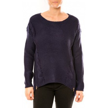 Vêtements Femme Pulls By La Vitrine Pull Laetitia MEM K078 Bleu Bleu