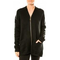 Vêtements Femme Gilets / Cardigans Tcqb Gilet Lely Wood L586 Noir Noir