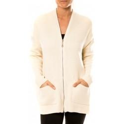 Gilets / Cardigans Tcqb Gilet Lely Wood L586 Blanc